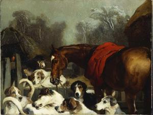 No Hunting Till the Weather Breaks by Edwin Henry Landseer