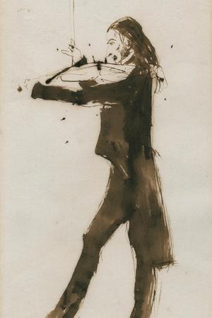 Portrait of Niccolò Paganini (1782-184), 1831