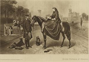 Queen Victoria Sitting on a Horse at Osborne by Edwin Henry Landseer