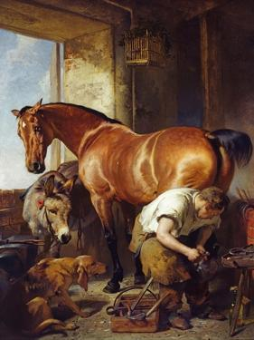 Shoeing by Edwin Henry Landseer