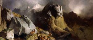 The Deer Pass, C.1852 by Edwin Henry Landseer