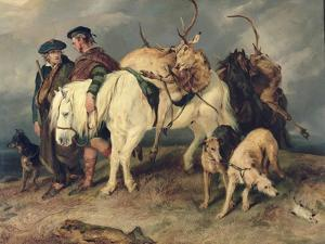 The Deerstalkers' Return, 1827 by Edwin Henry Landseer