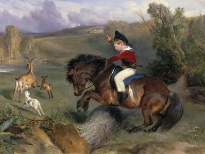 The First Leap: Lord Alexander Russell on His Pony 'Emerald', 1829
