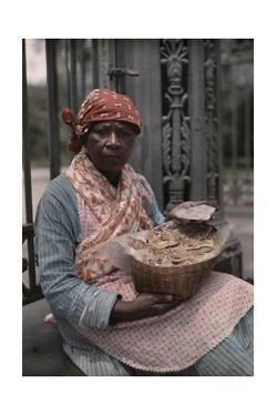 A Vendor Sells Pralines in the French Quarter by Edwin L. Wisherd