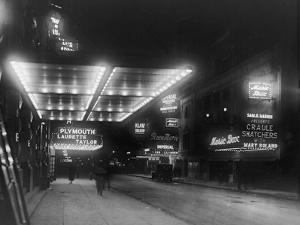 Broadway by Night by Edwin Levick