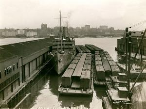 Rail Cars on Barges, 1920S by Edwin Levick