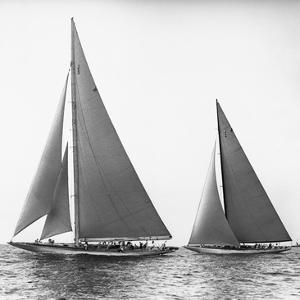 Sailboats in the America's Cup, 1934 by Edwin Levick
