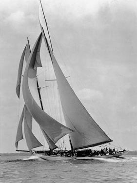 The Schooner Half Moon at Sail, 1910s by Edwin Levick