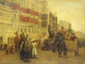 A Fete Day at Bekanir-Beloochistan, Bekanir by Edwin Lord Weeks