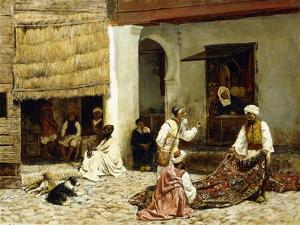 A Rug Bazaar in Tangiers, 1878 by Edwin Lord Weeks