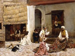 A Rug Bazaar, Tangier, 1878 by Edwin Lord Weeks