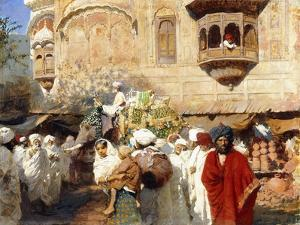 A Street in Jodphur, India by Edwin Lord Weeks