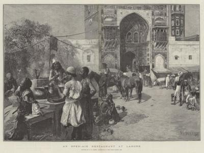 An Open-Air Restaurant at Lahore