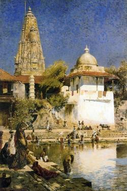 Banganga Tank and Walkeshwar Temple at Bombay, 1890S by Edwin Lord Weeks