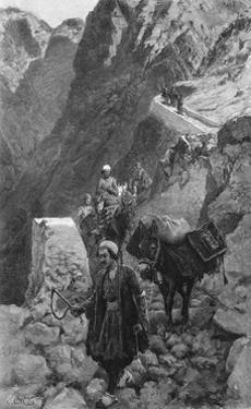 Crossing the Kotal Mountains, Iran by Edwin Lord Weeks