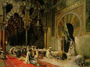 Interior of the Mosque at Cordoba, C.1880 by Edwin Lord Weeks