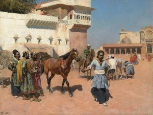 Persian Horse Dealer, Bombay, 1880s by Edwin Lord Weeks