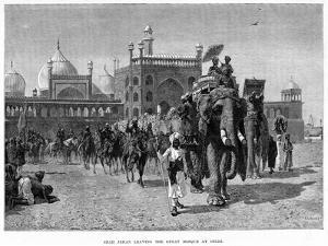Shah Jehan Leaving the Great Mosque at Delhi, C19th Century by Edwin Lord Weeks