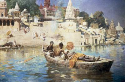 The Last Voyage-A Souvenir of the Ganges, Benares, 1885