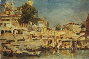 View of the Ghats at Benares, 1873 by Edwin Lord Weeks