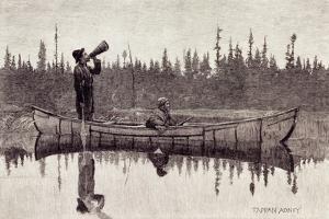 Maliseet Hunters Calling a Moose by Edwin Tappan Adney