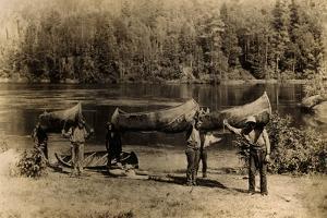 Nepigon (Nipigon), Ottawa, Algonkin and Ojibway Canoes by Edwin Tappan Adney