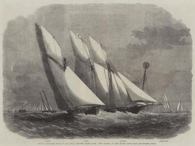 Annual Schooner Race of the Royal Thames Yacht Club, the Yachts at the Mouse Light Ship by Edwin Weedon