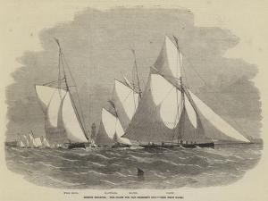 Boston Regatta, the Start for the Member's Cup by Edwin Weedon