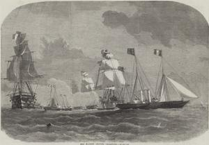 Her Majesty Leaving Cherbourg by Edwin Weedon