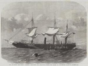 Her Majesty's Troop-Ship Transit, Refitting and Receiving Stores for China in Portsmouth Harbour by Edwin Weedon