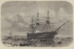 HMS Agamemnon by Edwin Weedon