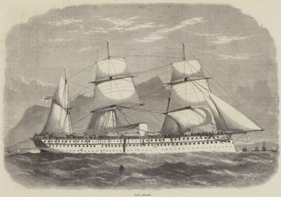 India and the Prince of Wales, HMS Serapis by Edwin Weedon