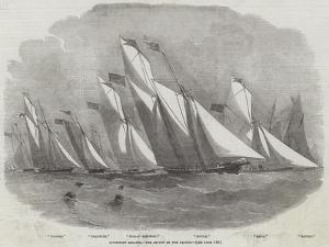 Lowestoft Regatta, the Review of the Yachts by Edwin Weedon