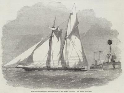 Royal Thames Yacht-Club Schooner Match, The Shark Rounding The Mouse Light-Ship by Edwin Weedon