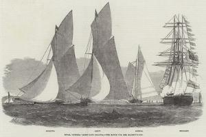 Royal Victoria Yacht Club Regatta, the Match for Her Majesty's Cup by Edwin Weedon