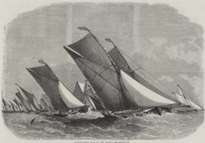 Sailing-Barge Race on the Thames by Edwin Weedon