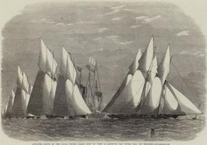 Schooner Match of the Royal Thames Yacht Club on 16 June; Rounding the Water Lily Off Shoebury by Edwin Weedon