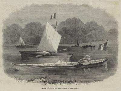 Skiff and Canoe for the Empress of the French by Edwin Weedon