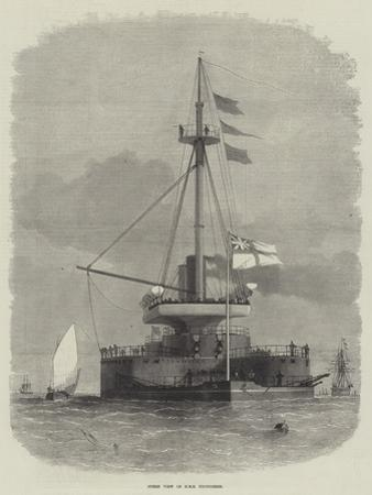 Stern View of HMS Thunderer by Edwin Weedon