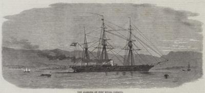 The Alabama at Port Royal, Jamaica by Edwin Weedon