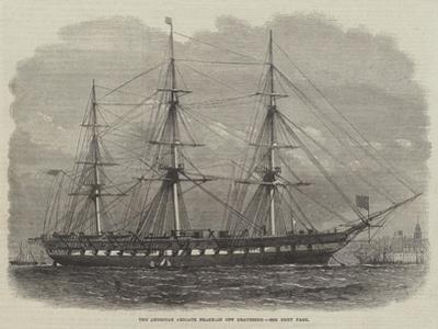 The American Frigate Franklin Off Gravesend by Edwin Weedon