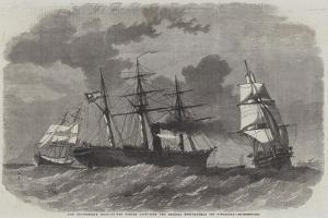 The Confederate Sloop-Of-War Sumter Capturing Two Federal Merchantmen Off Gibraltar by Edwin Weedon