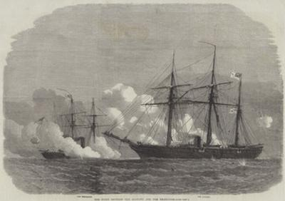 The Fight Between the Alabama and the Kearsarge by Edwin Weedon