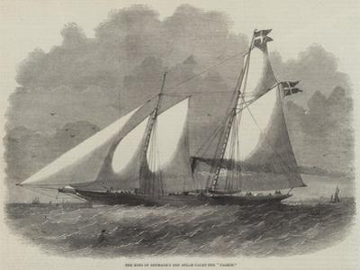 The King of Denmark's New Steam-Yacht the Falkin by Edwin Weedon