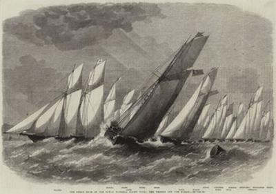 The Ocean Race of the Royal Victoria Yacht Club, the Vessels Off the Noman by Edwin Weedon