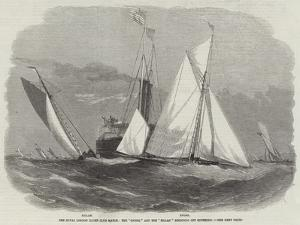 The Royal London Yacht Club Match, the Gnome and the Zillah Rounding Off Southend by Edwin Weedon