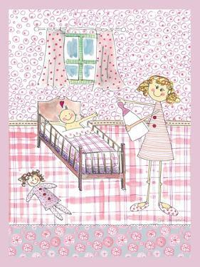 Baby Girl in Cot by Effie Zafiropoulou