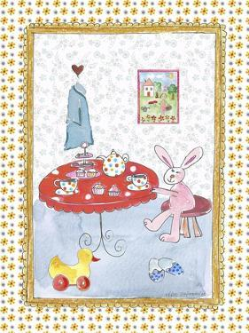 Bunny at Tea Table by Effie Zafiropoulou