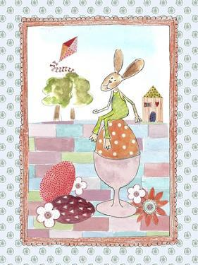 Easter Bunny on Egg by Effie Zafiropoulou