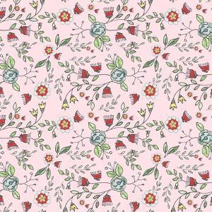 Pattern 30's Style Flowers by Effie Zafiropoulou